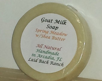 SALE - Goat Milk Soap, Spring Meadow  Shea Butter, Handmade Soap, Natural Soap, Cold Process Soap, Homemade Scented Soap, Shea Butter Soap