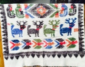 Vintage Wool Aztec Blanket Wool Indian Blanket Southwest Wool Blanket