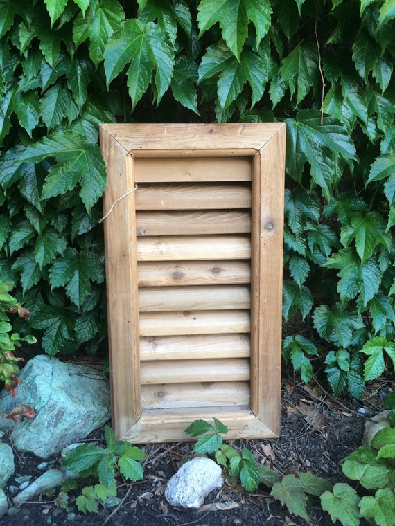 vintage shutters natural wood shutter architectural salvage gable vent
