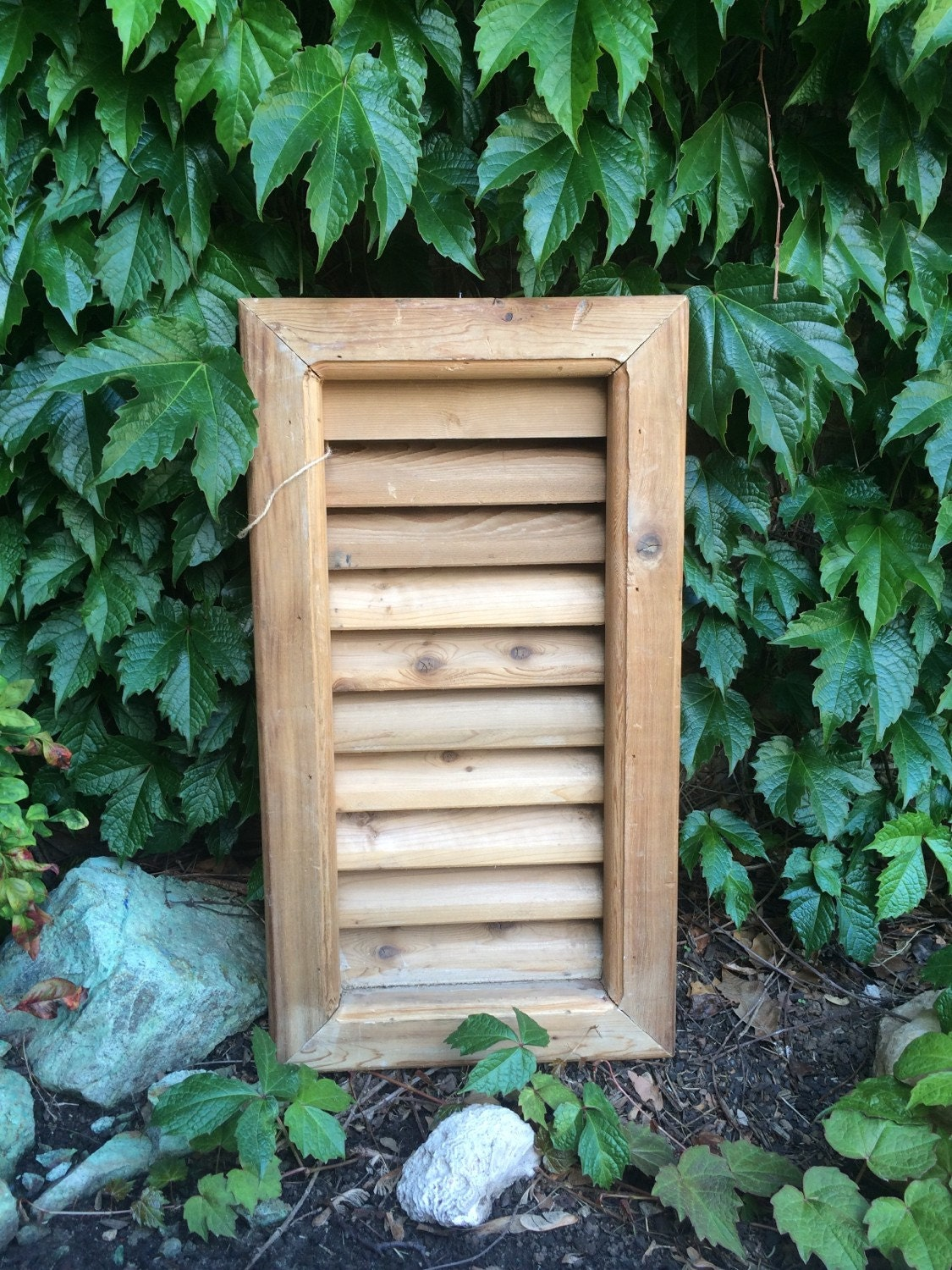 vintage shutters natural wood shutter architectural salvage