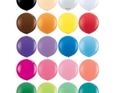 "Giant 36"" Inch Latex Balloons - Round - White, Clear, Blush, Black, Brown, Orange, Yellow, Red, Purple, Blue, Pink, Coral, Mint, Green, Teal"