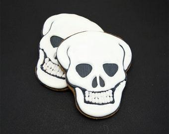 Decorated Cookies - Halloween - Skull - 1 dozen