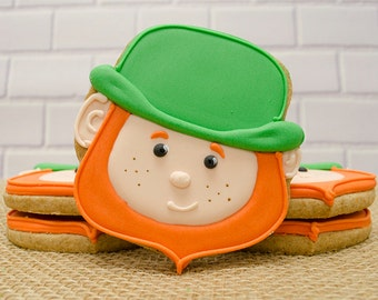 Decorated Cookies - Leprechaun  - St Patrick's Day - 1 DOZEN