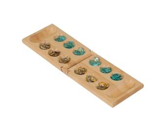 Mancala Game, Engraved Mancala Game, Custom Mancala, Personalized Mancala, Monogram Mancala Game, Wooden Game, Wooden Game Set
