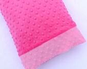 Pillowcase - Travel Pillowcase - Minky Pillowcase - Kids Gift - 12x16 Pillowcase - Pillow Cover - Pink Pillowcase- kids bedding - 12 x 16