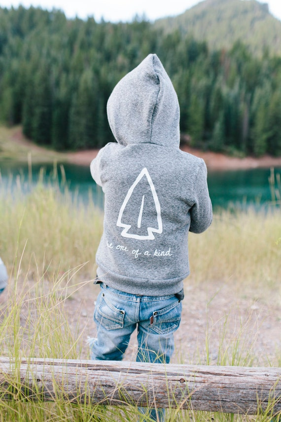 SALE | Anasazi Arrowhead | Salt & Pepper Hoodie | Toddler/ Child Hoodie