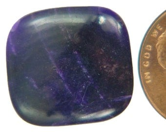 Genuine African Sugilite 9.6 ct Rectangle Cabochon Lapidary Gemstone 9977K