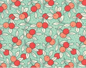 Pre-Order-Chestnut Street Floral Berries Blueberry by Fig Tree Quilts - Moda - 1 Yard