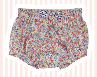 Liberty Tana Lawn Diaper Nappy Covers   Coral Phoebe