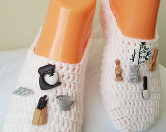 The Master Chef Specially Designed Home Slippers, Dance classic yoga, house slippers, crochet shoes, balletflats pilates yogasocks