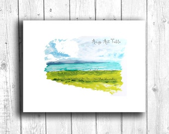 Coastal painting, Digital download, Printable original art, Digital 8x10 art printable