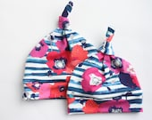 Poppies Baby Top Knot Hat or Slouchy Beanie by JuteBaby