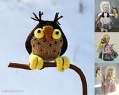 083 Owl for Charming Witch - Crochet Pattern PDF file Amigurumi by Astashova Etsy