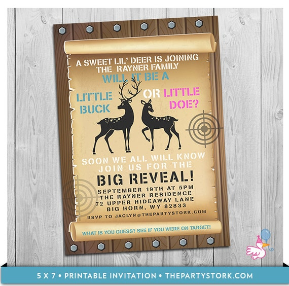 baby reveal invitations