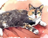 """ACEO Limited Edition 2/25 - """"Maggie"""" - Art print of an original watercolor painting by Anna Lee"""