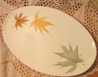 Vintage Iroquois China Ben Seibel Leaf Pattern Platter