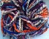 SALE! Super bulky handspun yarn merino and silk sequins