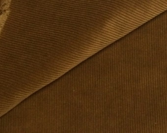 Corduroy Fabric / Tawny Brown Corduroy Fabric Yardage 1  1/3 Yards