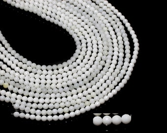 """GU-11453-3 - Natural Mother Of Pearl Rounds - 6mm - Gemstone Beads - 16"""" Full Strand"""