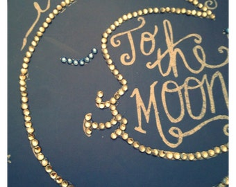 Love you to the moon and back journal diary with crystals