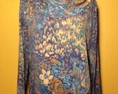 Vintage 70s Long Sleeve Blouse - Medium - Free Shipping
