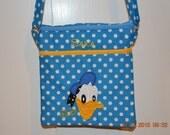 Donald Duck Double zippered purse for Disneyland Fun