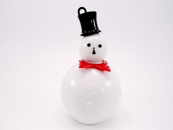 Vintage Snowman Hard Plastic Lollypop Holder 1950s Christmas