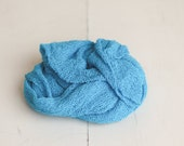 CLEARANCE - Turquoise Newborn Stretch Knit Baby Wrap - Photography Prop - SALE
