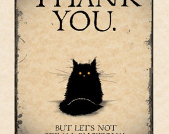 Black Cat Thank You card