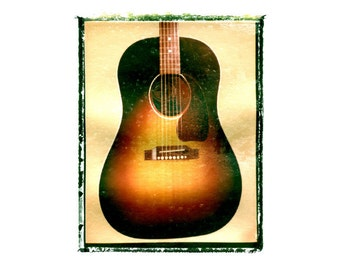 Gibson J45 Acoustic guitar art print / music gift / rock n roll art / music room decor / guitar gift / man cave art