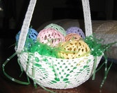 Crocheted Easter Basket and Eggs Pattern PDF download only
