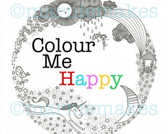 Colour Me Happy - The Marnie Makes colouring story book