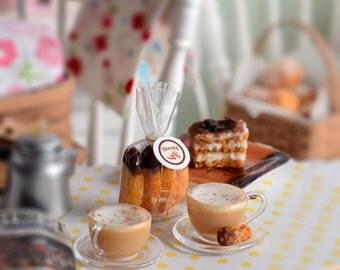 Miniature Cappuccino, Biscotti and Tiramisu Set