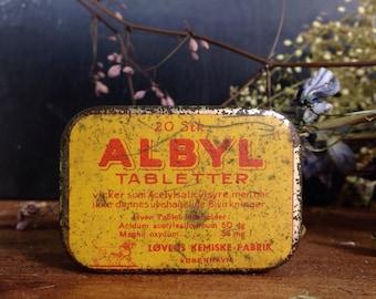 Vintage Small Golden Pill Box