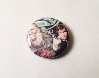 Han Solo and Chewie Button - 1 inch