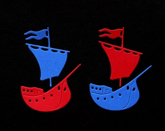 Boat Die Cuts Set of 6 pcs Embellishments Card Making DIY  Scrapbooking Albums Tags