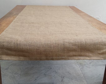 To be made TO ORDER Burlap jute table runner custom size available rustic chic wedding decor burlap jute home decor