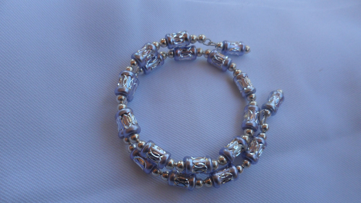 memory wire and bead bracelet