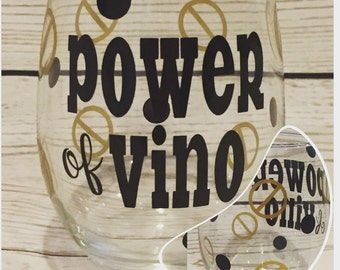 Big Brother Inspired Power of Vino Wine Glass - power of veto - showmance - bromance - head of household