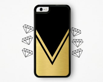 Black and Gold Triangle iPhone Case Chevron iPhone Case Chevron iPhone 5 Case Chevron iPhone 4 Case Chevron iPhone 4s Case iPhone 5s Chevron