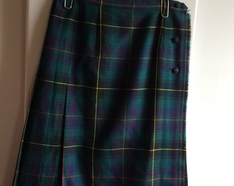 Women's  Vintage / Watch Plaid Ladies Vintage Wool Kilt