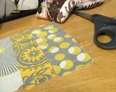 Handbag in yellow daisy fabric