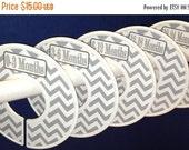 SALE 5 Custom Baby Closet Dividers - Modern Grey White Chevrons CD102 - Baby Boy Girl Shower Gift Nursery - Custom Zig Zag Baby Closet Organ