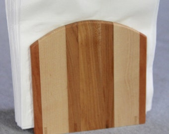 Napkin Holder Handmade out of Cherry and Maple Hardwoods - Free Shipping to USA