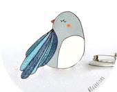 Blue Bird brooch - handmade by Bodesigns