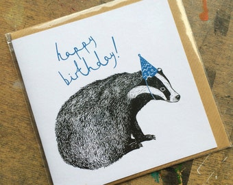 SALE! - Birthday Badger Card