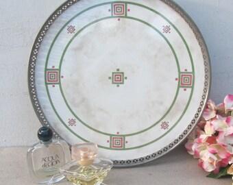 Antique Porcelain Tray, Arts and Craft, Art Deco Design, Circa 1891, Perfect Condition, Bar Tray, Vanity Tray, Barware