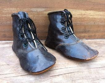 Antique Children's High Top Boots