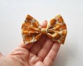 NEW - SMALL Pumpkin Hair Bow - Pumpkin Pattern Hair Bow and Clip