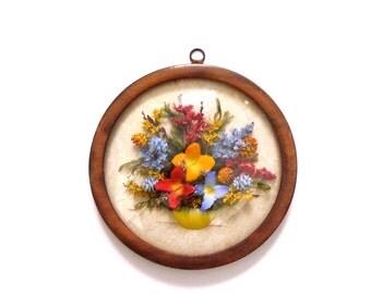 Framed Dried Flower Arrangement